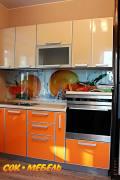 Кухня с фасадами пластик в AL кромке, город Рязань