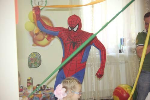 Человек-паук на день рождения, фокусы, аквагрим, город Рязань